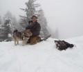 Norwegian Elkhound Handler and Dog